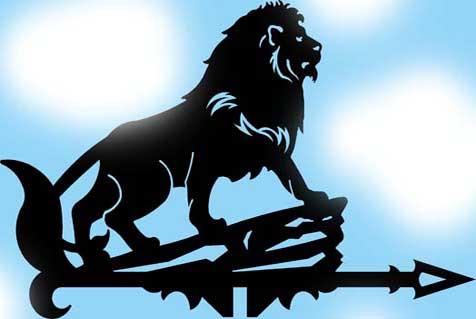 Лев на флюгере