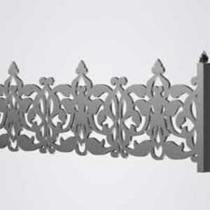 Плазменная резка ограды